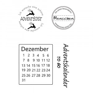 Stempel Clear, Advent, A7 / 74 x 105 mm, 4 - teilig, transparent